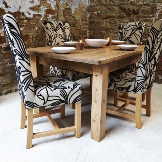 set of 4 harlequin fabric dining chair