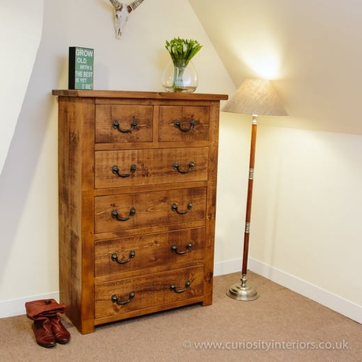 Sherwood Plank Chest of Drawers  Available in a variety of sizes