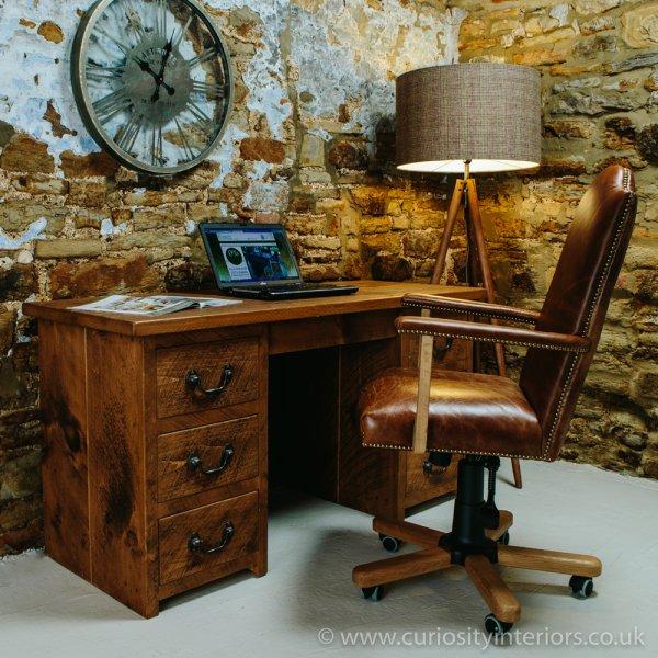 Sherwood Plank Double Pedestal Desk From Curiosity Interiors