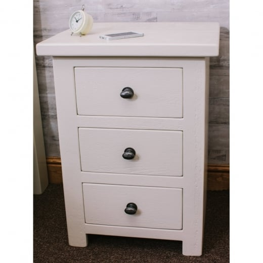 Sherwood Plank Painted 3 Drawer Bedside