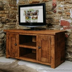 Sherwood Plank TV Unit with Cupboard
