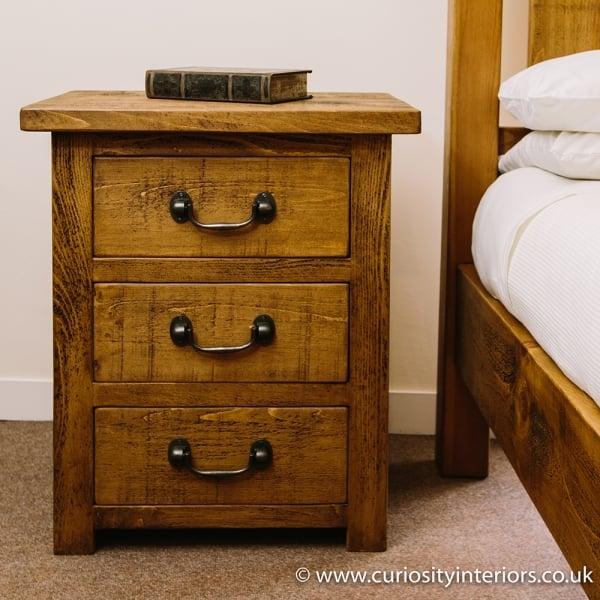 Wooden bedside plank wood bedside drawers curiosity for 12 wide bedside table