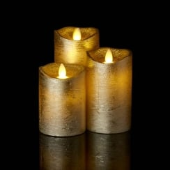 Sirius Sara Gold LED Wax Candle