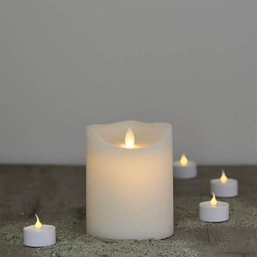 Sirius Sara White LED Wax Candle