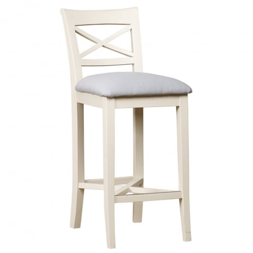 Buy Fabric Bar Stool Painted Oak Wood Two Tone Bar Breakfast Stools
