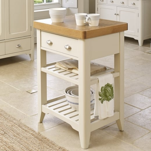 Painted Oak Wood Two Tone Table, Unit