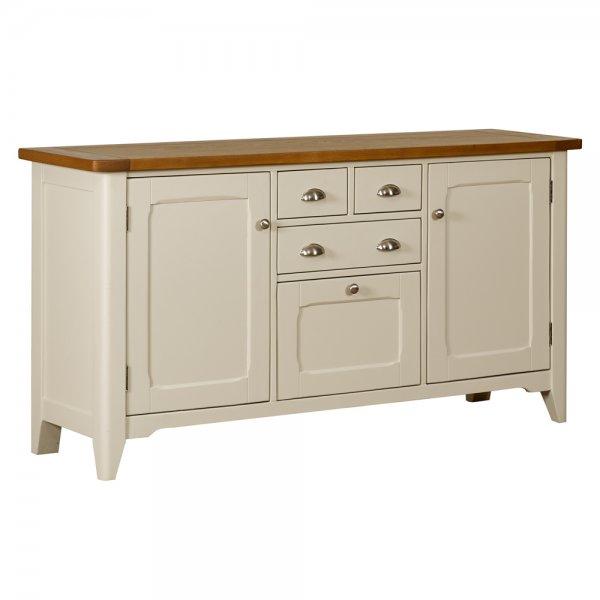 Buy Large Sideboard Glass Hutch Painted Oak Dresser
