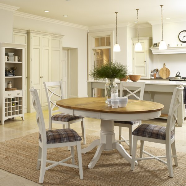 Buy St Ives Round Pedestal Dining Table Painted Oak Dining Tables