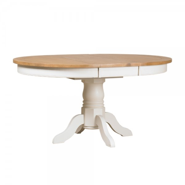 Buy St Ives Round Pedestal Dining Table Painted Oak  : st ives round extending pedestal dining table p2311 31409image from www.curiosityinteriors.co.uk size 600 x 600 jpeg 15kB