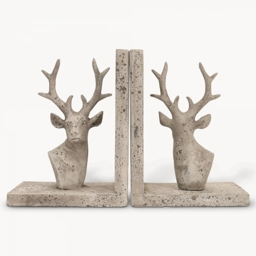 Stone Stag Bookends