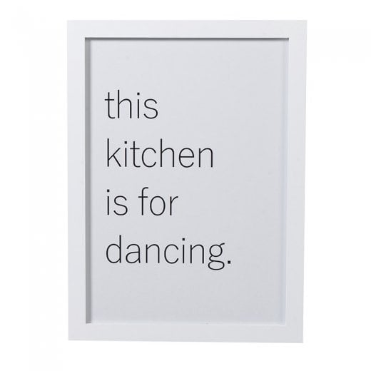 'This Kitchen Is For Dancing' Framed Quote