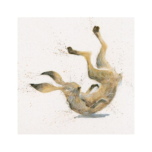 Topsy Turvey Hare Framed Limited Edition Print by Kay Johns