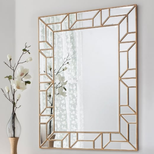Buy Large Geometric Mirror Gold Verbier Statement Wall