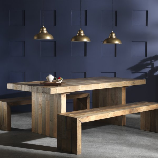 Ragana Reclaimed Timber Dining Table With Bench 3 Dining: Buy Vintage Industrial Plank Wood Rustic Dining Table