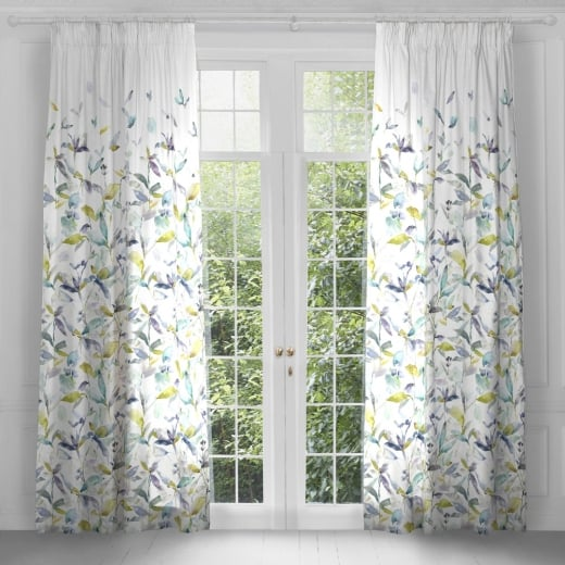 Voyage Maison Artscene Jarvis Lemon Pencil Pleat Curtain Panels