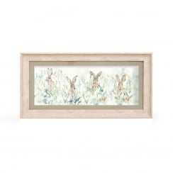 Bunnies Rectangular Framed Artwork