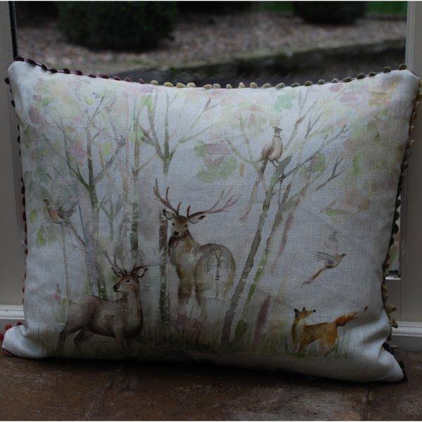 Voyage maison enchanted forest linen cushion voyage for Au maison cushions uk