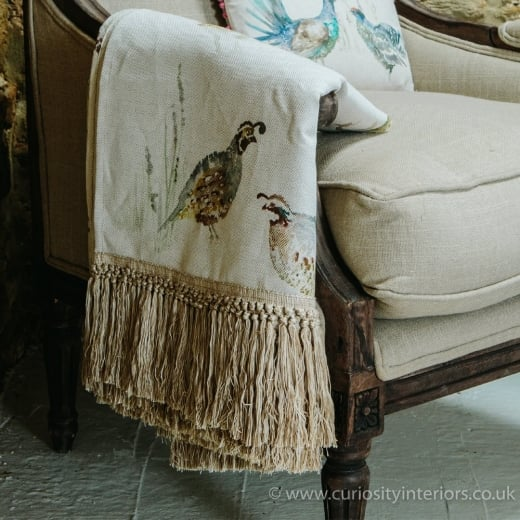Voyage Maison Gamebirds Fringe Throw