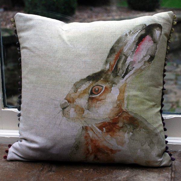 Voyage maison hazel hare linen cushion voyage maison for Au maison cushions uk
