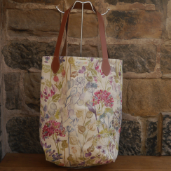 Hedgerow Linen and Leather Shopper Bag