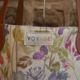 Voyage Maison Hedgerow Linen and Leather Shopper Bag