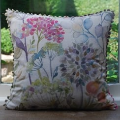 Hedgerow Square Linen Print Cushion