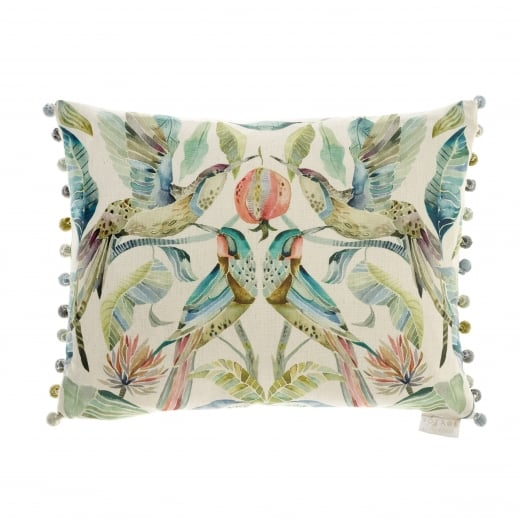 Voyage Maison Hummingbirds Pomegranate Velvet Cushion