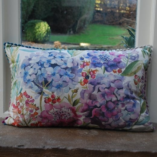 Buy voyage maison cushion hydrangea linen cushion wool for Au maison cushions uk