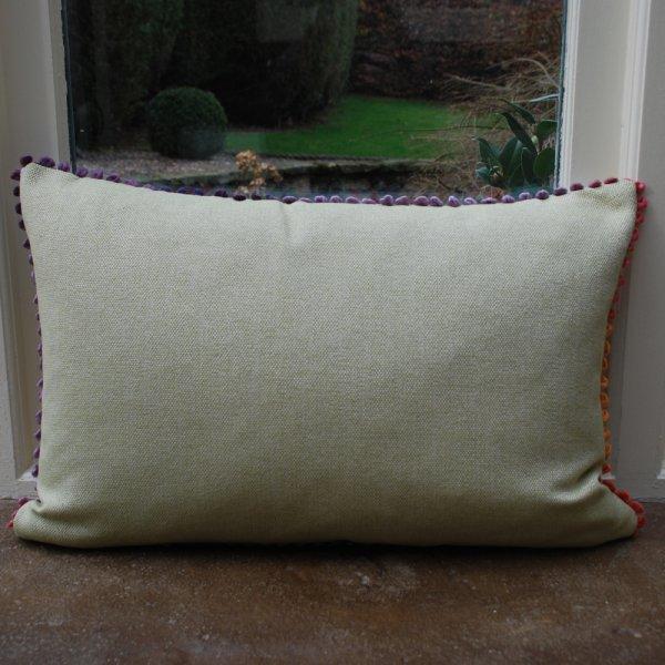 Voyage Maison Jayin Duck Egg Linen Print Cushion