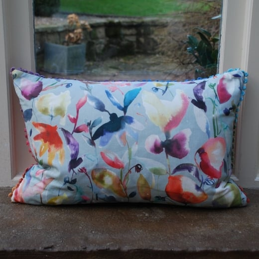 Buy voyage maison cushion jayin pacific flower linen for Au maison cushions uk