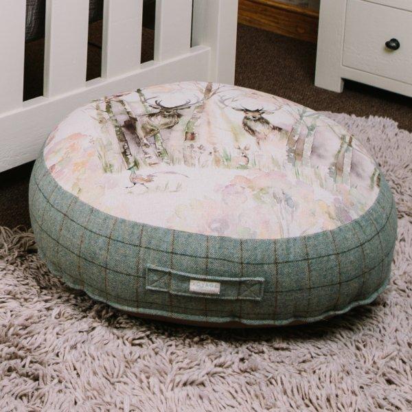 Voyage maison enchanted forest floor cushion footstools for Au maison cushions uk