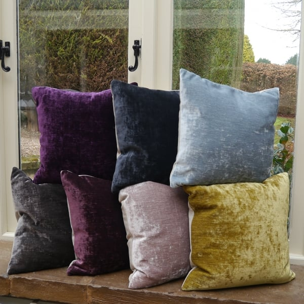 Voyage maison mimosa amethyst chenille cushion from for Au maison cushions uk