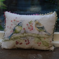 Mini Birdies Linen Print Cushion