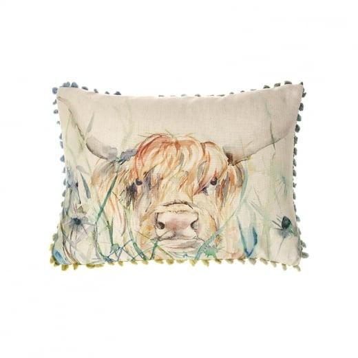 Voyage Maison Cushion Highland Cow Cushion Curiosity