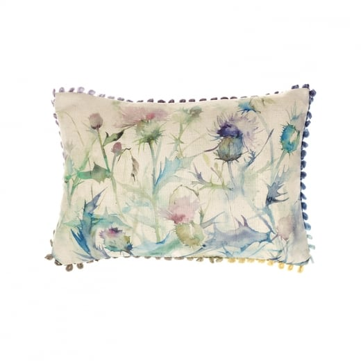 Voyage Maison Mini Collection Mini Damson Bristle Linen Print Cushion