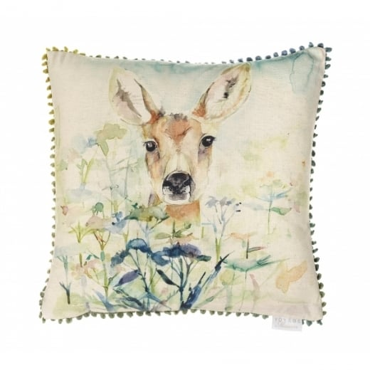 Voyage Maison Mini Collection Mini Fawn Linen Print Cushion