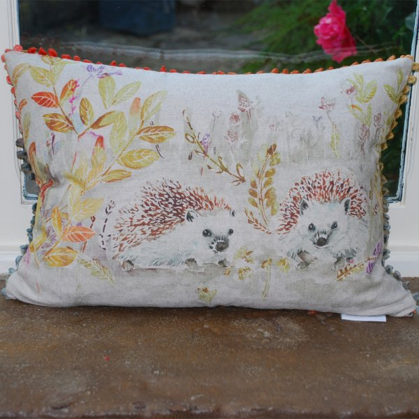 Voyage Maison Mr And Mrs Hedgehog Linen Cushion Voyage