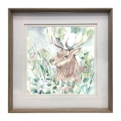Nut Oak View Framed Artwork