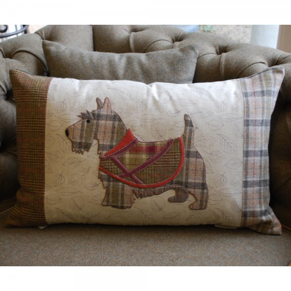 Buy Voyage Maison Scotty Dog Cushion Patchwork Tweed Scottie Cushions