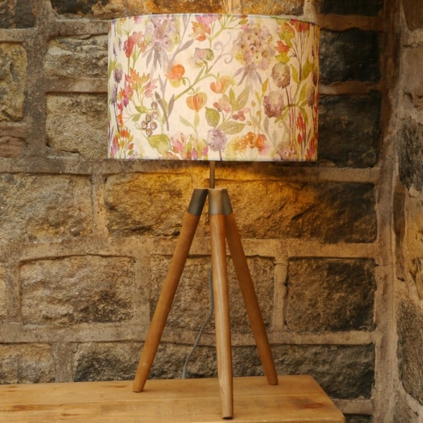 Voyage Maison Tripod Autumn Floral Table Lamp From