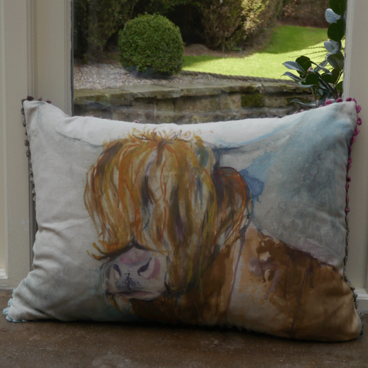 Voyage Maison Rory Highland Cow Cushion From Curiosity
