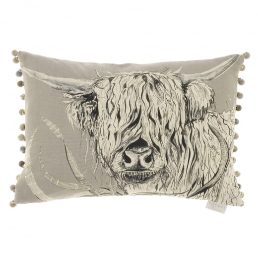 Voyage Maison Rudy Silver Linen Print Cushion