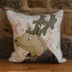 Spencer Stag Patchwork Cushion