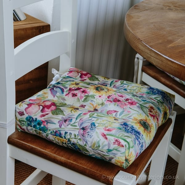 voyage maison sunflower dining chair seat pad from