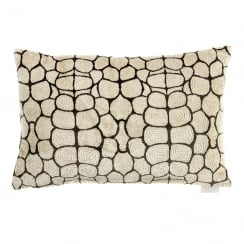 Testa Mocha Devoré Cushion