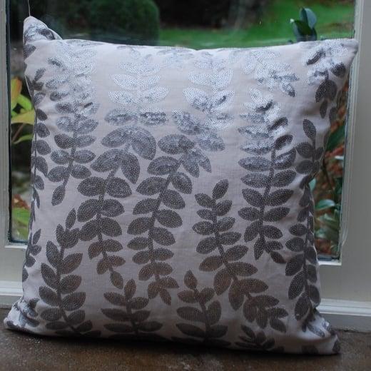 Buy theon platinum linen cushion voayge maison couture for Au maison cushions uk