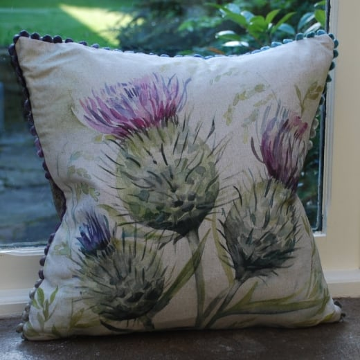 Voyage Maison Thistle Glen Linen Print Cushion