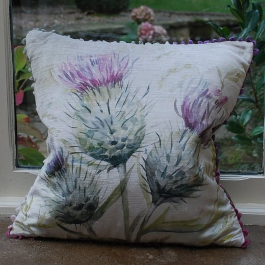 Voyage Maison Thistle Glen Velvet Print Cushion