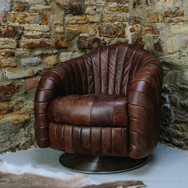 Miraculous Weston Leather Swivel Chair Discontinued Squirreltailoven Fun Painted Chair Ideas Images Squirreltailovenorg