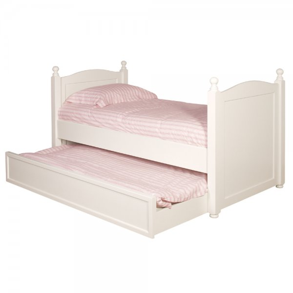 White Truckle Bed Children 39 S Single Bed With Pull Out Drawer